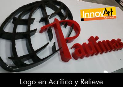 logos en relieve acrilico
